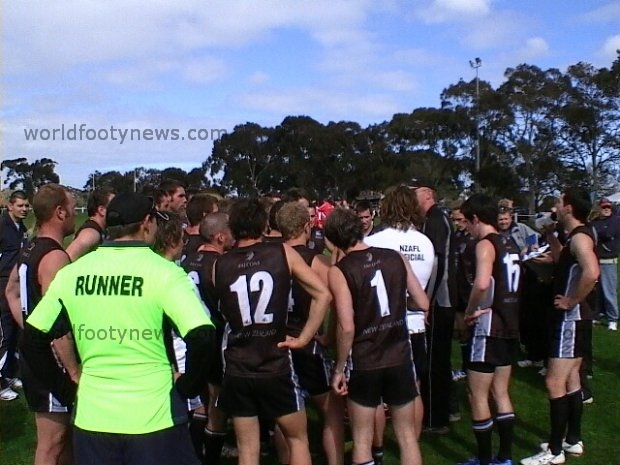 New Zealand huddle