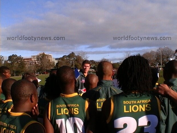 South Africa listen to coach Jason McCartney