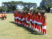 The PNG Kupundas line up in Lae